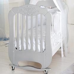 Diamante argento/bianco bed