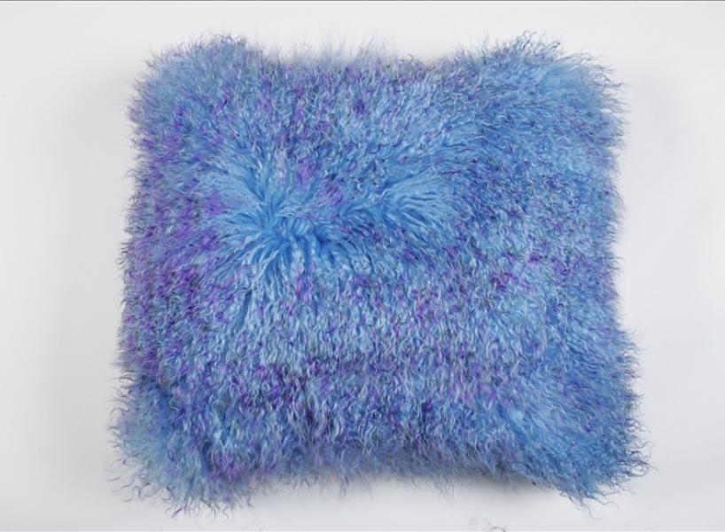 Подушка (мех тибетской овчины, двухцветная)  - на 360.ru: цены, описание, характеристики, где купить в Москве.