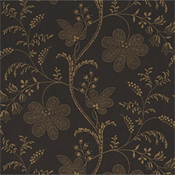 London Wallpapers II Bedford Square Ebony Gold