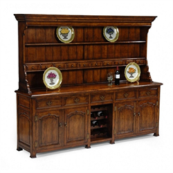 492234 Large Walnut Welsh Dresser with Wine Rack