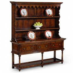 492235 Walnut Country Open Dresser