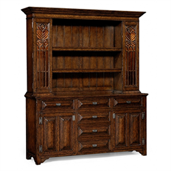 493578 Oak hutch with dresser