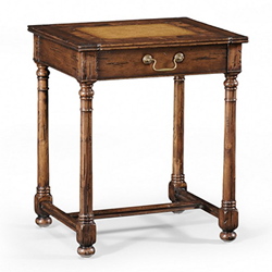 493213 Country Walnut & Oyster Side Table