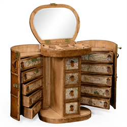 494682 Travel trunk style dressing table
