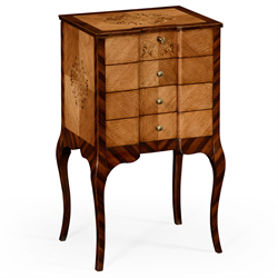 494693 Rosewood and satinwood dressing chest