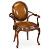 492653 Leather upholstered rococo armchair - на 360.ru: цены, описание, характеристики, где купить в Москве.