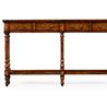 492788 Narrow walnut console table antique finish - на 360.ru: цены, описание, характеристики, где купить в Москве.