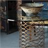 494568-G Interlaced gilded & glass dining table - на 360.ru: цены, описание, характеристики, где купить в Москве.