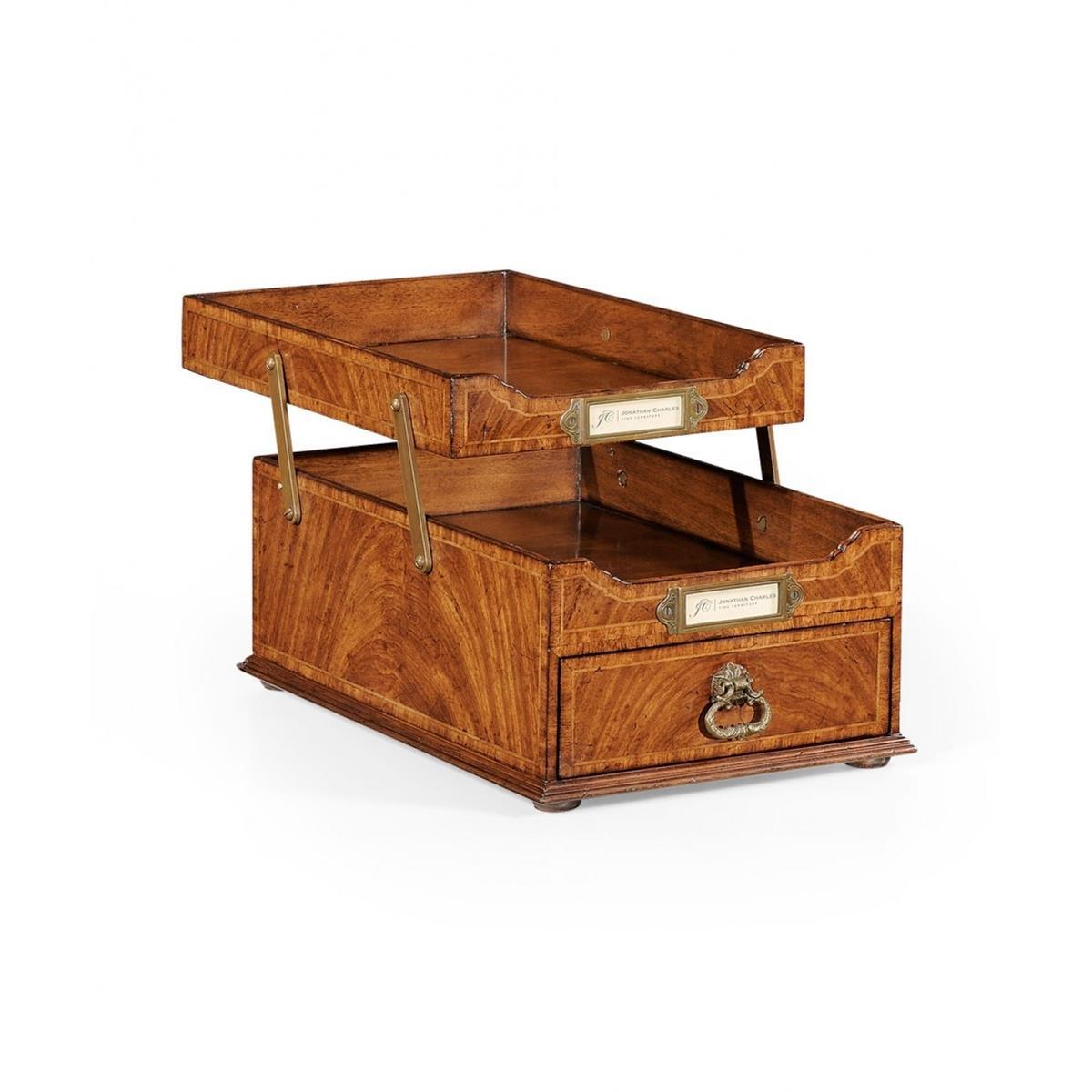 494265 Crotch Walnut Letter Tray with Drawer - на 360.ru: цены, описание, характеристики, где купить в Москве.
