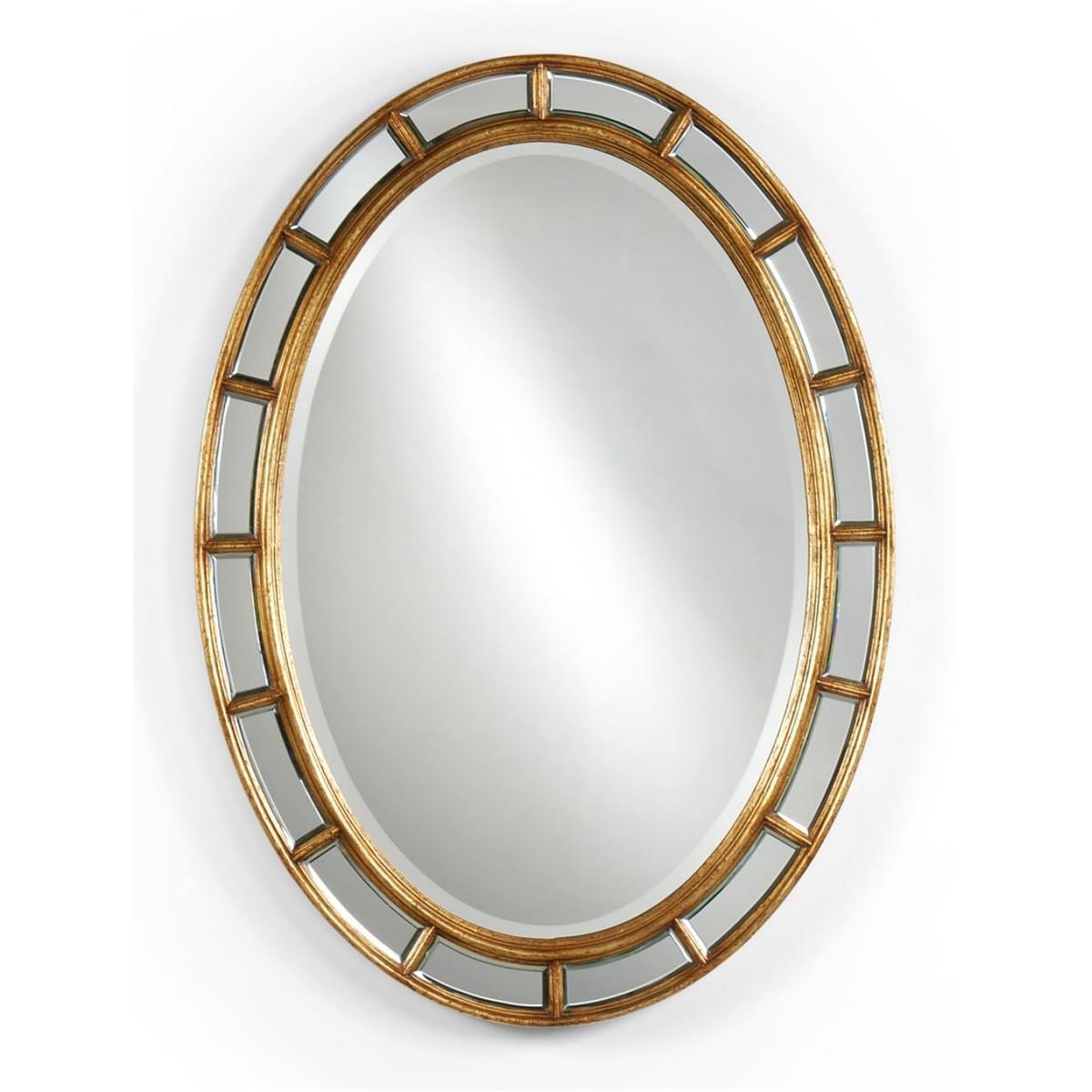 492697 Walnut Framed Oval Panelled Gilded Mirror - на 360.ru: цены, описание, характеристики, где купить в Москве.