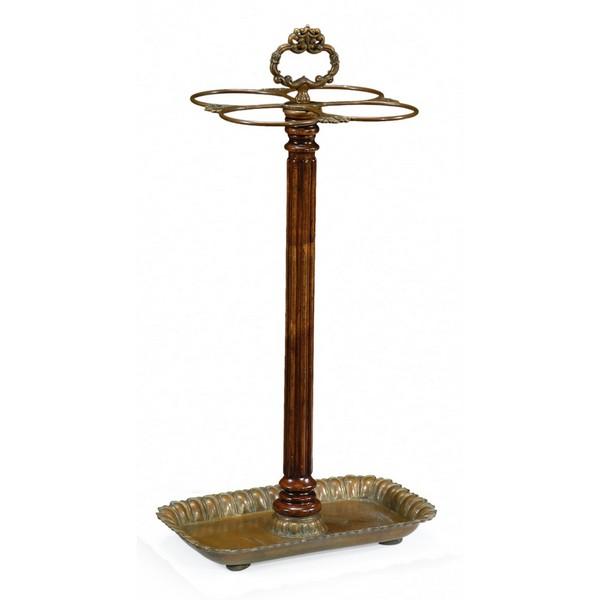 493045 Walnut and Brass Umbrella Stand - на 360.ru: цены, описание, характеристики, где купить в Москве.