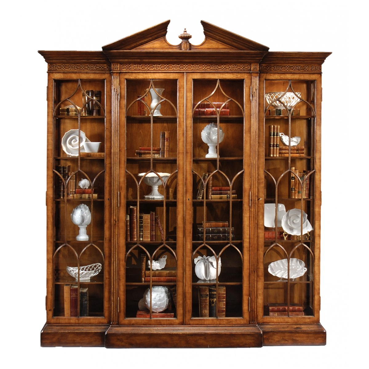 493073 Walnut breakfront triple display cabinet - на 360.ru: цены, описание, характеристики, где купить в Москве.