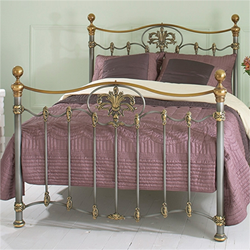 Camolin Iron and Brass Bed