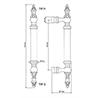 Gabriel Door Pull D1 & Backplate 45,8 cm - на 360.ru: цены, описание, характеристики, где купить в Москве.