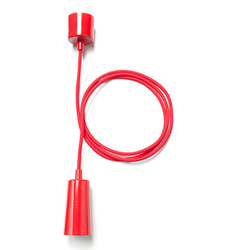 Plumen drop cap pendant set red