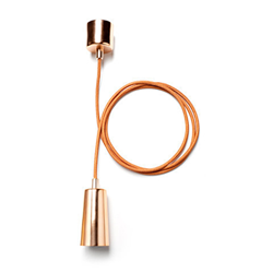 Plumen drop cap pendant set copper