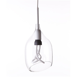 Vessel 2 lamp shade -Diagonal cut - Clear glass