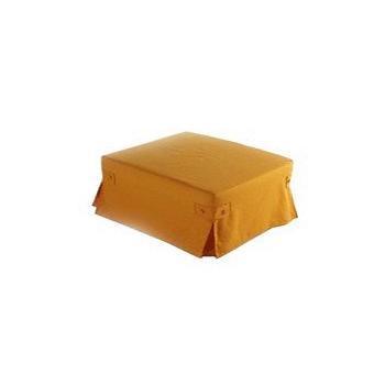 Пуф-трансформер / пуф-кровать на каркасе из окрашенного металла.  Решетка выполнена из дерева, пружинное основание.