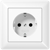 AS500 socket white - на 360.ru: цены, описание, характеристики, где купить в Москве.