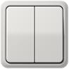 CD500 2-gang switch plastic light-grey - на 360.ru: цены, описание, характеристики, где купить в Москве.
