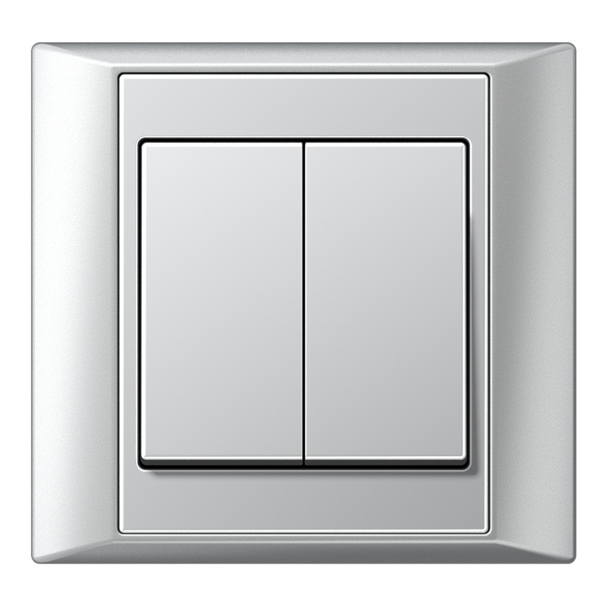 A plus 2-gang switch aluminium - на 360.ru: цены, описание, характеристики, где купить в Москве.