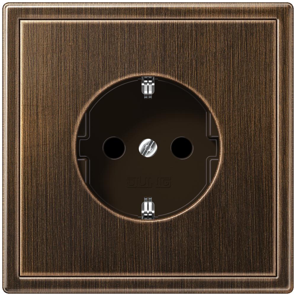 LS 990 socket antique brass  - на 360.ru: цены, описание, характеристики, где купить в Москве.