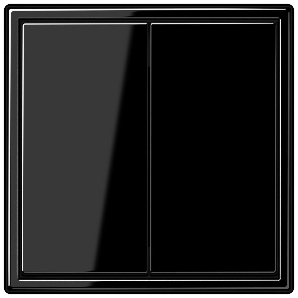 LS 990 2-gang-switch black  - на 360.ru: цены, описание, характеристики, где купить в Москве.