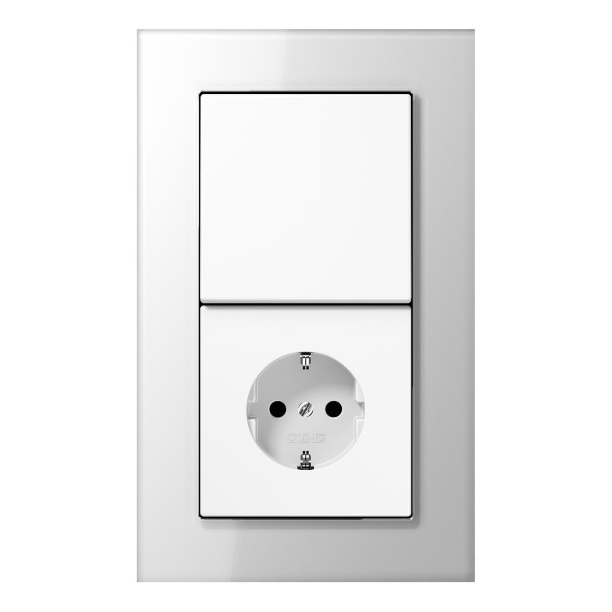 LS plus switch-socket GL white - на 360.ru: цены, описание, характеристики, где купить в Москве.