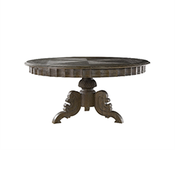 "63"" French Round Grey Table 8831.0001L Grey E628"