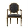 Vintage Wool Louis Round Button Armchair 8827.0009 W Wool - на 360.ru: цены, описание, характеристики, где купить в Москве.