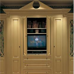 Victorian TV cabinet in cream