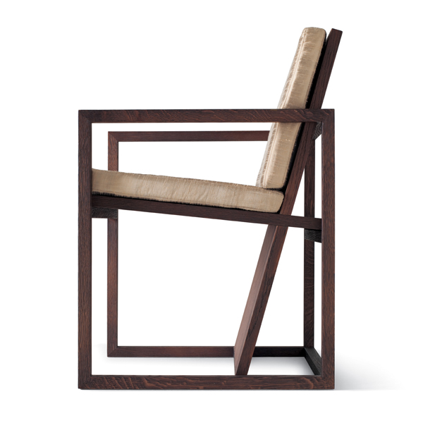 Straight dining chair design by ferruccio laviani
