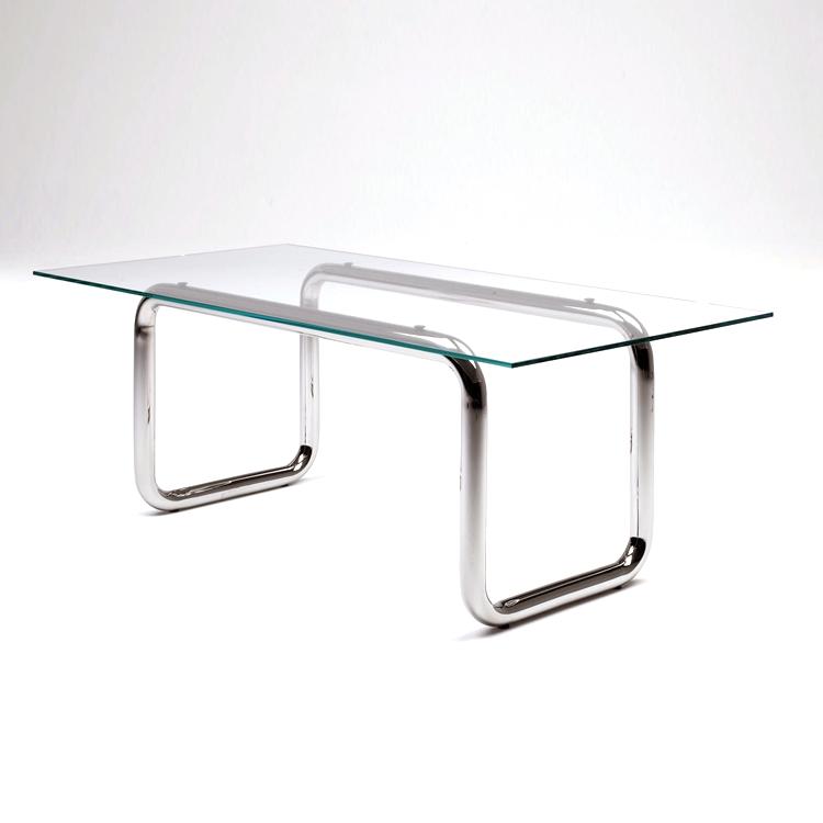 Glass Table with Pipe Legs - на 360.ru: цены, описание, характеристики, где купить в Москве.