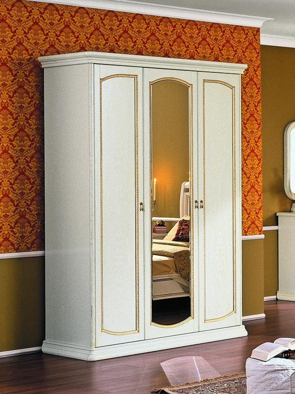 Шкаф 3-х дверный с зеркалом луиджи (белый) купить по лучшей .
